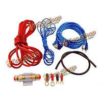 Авто автомобиль 500w гса к RCA аудио кабеля усилитель проводов комплект