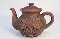 Лепка Чайник заварочный 1,3л красная глина Терра-Караммаш