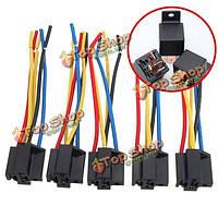 5шт 5 контактный разъем жгута проводов кабеля реле разъем DC 12V для автомобиля W6