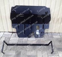 Защита двигателя Шкода Фабия 2 (стальная защита поддона картер Skoda Fabia 2)