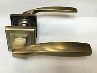 Ручка раздельная на квадратной розетке Mongoose H-890 MAB (матовая бронза)