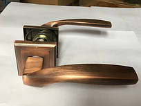 Ручка раздельная на квадратной розетке Mongoose H-890 MAC (матовая медь)