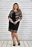 Женское Леопардовое платье 0319-2(42-74)