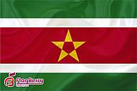 Флаг Суринам 80*120 см., искуственный шелк