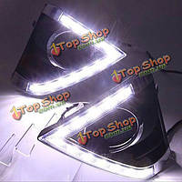 Пара 12v Toyota Yaris л дневные ходовые свет водить Фокса глаз противотуманный фонарь