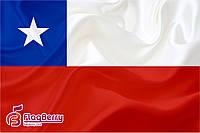 Флаг Чили 80*120 см., искуственный шелк
