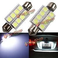 Sofitte 42мм 8 светодиодов SMD 5050 LED innenraum beleuchtung лампе 12В