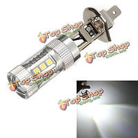 H1 3030 16SMD LED машина белого тумана свет дневной ходовой огонь  700lm DC 10-30В