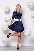 Модное платье с расклешенной юбкой