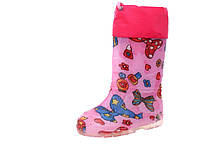 Резиновые сапоги детские, для девочки Alisa 301бант.роз