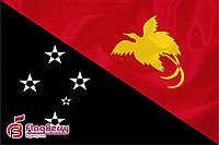 Флаг Папуа - Новая Гвинея 80*120 см., искуственный шелк