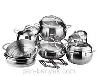 Fine Majestic Набор посуды 14 предметов нержавейка Vinzer