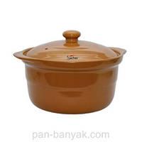 Кастрюля коричневая 1,2л керамика Sacher