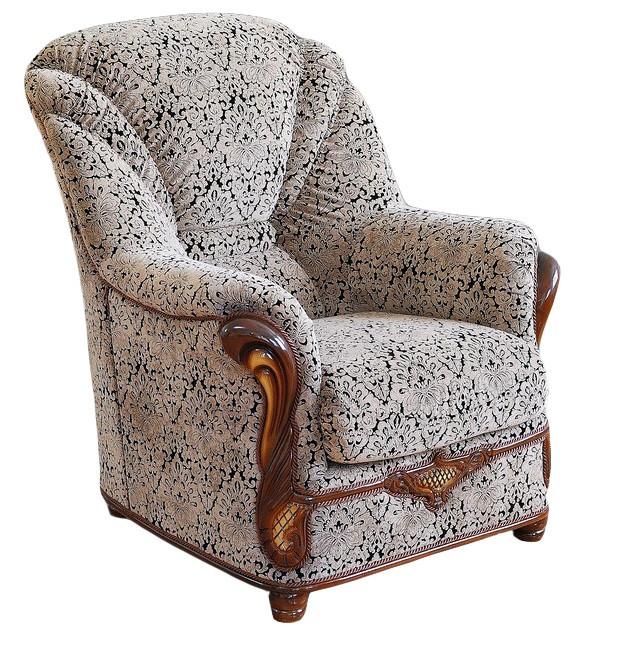 Стильное кожаное кресло Вилон