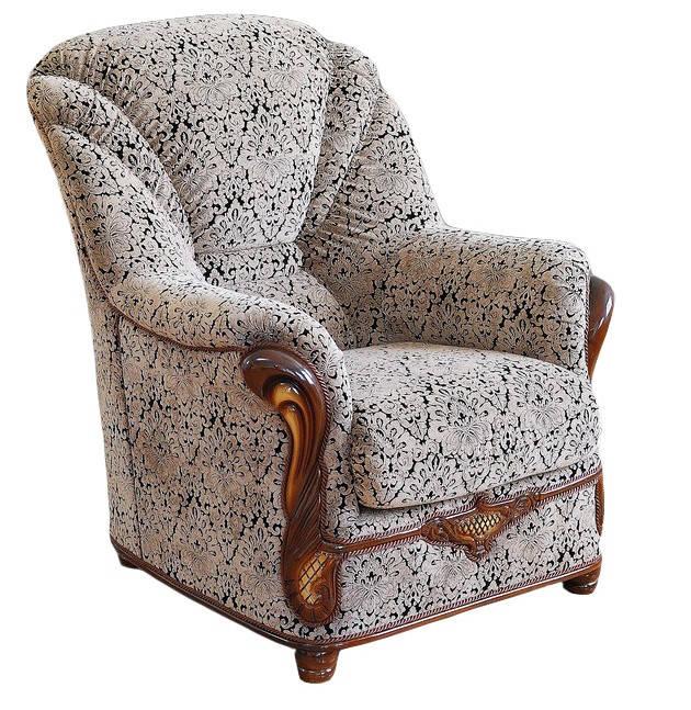 Стильное кожаное кресло Орхидея (80 см)