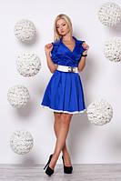 Шикарное голубое платье