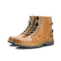 Ботинки мужские Timberland Earthkeepers Rugged High с мехом (зимние ботинки тимберленд) светло-коричневые