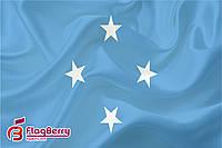Флаг Федеративные Штаты Микронезии 80*120 см., искуственный шелк
