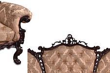 Кожаное кресло с резьбой Элия (90 см), фото 2
