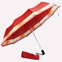 Зонт красный с желтой полосой 4F-03