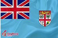 Флаг Фиджи 80*120 см., искуственный шелк
