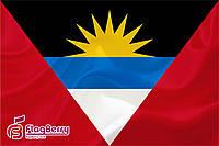 Флаг Антигуа и Барбуда 80*120 см., искуственный шелк