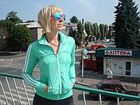 Спортивный костюм женский на молнии комбинированный микрофибра и эластик