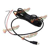 3 метра мини-USB 12v к 5V автомобиля шнура питания понижающий линии