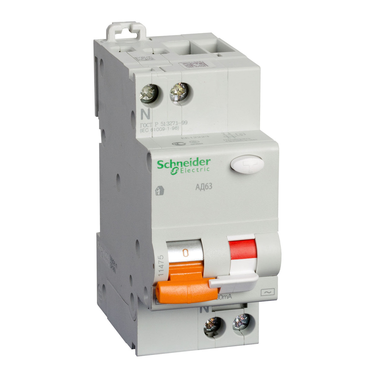 Диф. Автоматический выключатель АД63 2П 40A З 300МA Schneider Electric