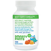 Мультивитамины для детей + Волокна + Омега-3 + Витамин D; 120  медве