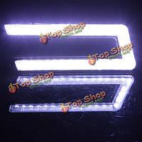 U-образный cob белый DRL фары дневного света LED Светильник