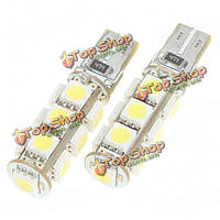 T10 2.5w 13x5050 SMD LED 6500k 160-Lumen Белый свет лампы для бмв
