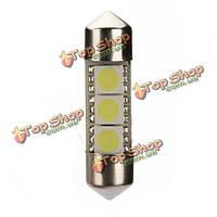 34мм 3SMD 5050 honda/acura индикатор автомобиль интерьера клин LED лампа