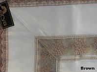 Скатерть KAYAOGLU Demet 160х240 с гипюром коричневая