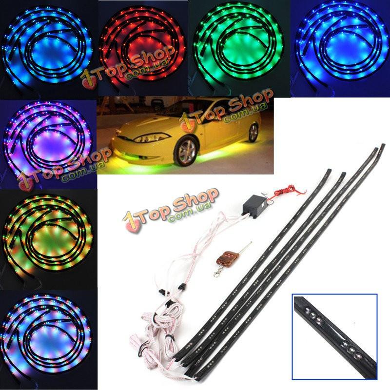 7 цветов LED в машине светятся днища Система дистанционного неоновый свет комплект