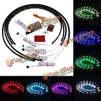7 цветов RGB LED полоса под автомобиля под днищем кузова система неоновые огни Набор шасси огни