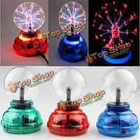 Звуковой датчик касания плазменный шар очистки воздуха машина музыка ритм света магический шар анион