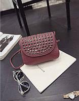 Бордовая сумочка с камнями