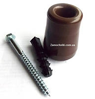 Упор дверной универсальный 60 мм. коричневый