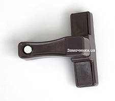 Блокиратор пластикового окна Elit с кнопкой коричневый