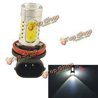 Авто н11 11вт 5smd LED линза фары противотуманной фарой белая Лампа(12В)