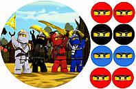 Ниндзяго Лего 98 Вафельная картинка