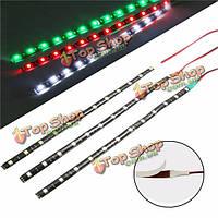 3шт 12v 12 LED освещение водонепроницаемый лодка морской красный зеленый белый полосы света