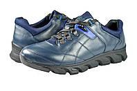 Мужские кроссовки кожаные mida 110041син синие   весенние