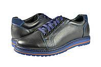 Мужские кроссовки кожаные mida 11252ч черные   весенние , фото 1