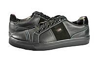 Мужские кроссовки кожаные mida 110042ч черные   весенние , фото 1