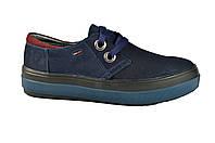 Женские кроссовки кожаные mida 21612н.син черные   весенние
