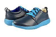 Женские кроссовки из натуральной кожи mida 21539син синие   весенние , фото 1