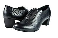 Женские туфли модельные из хромированной кожи mida 21585ч черные   весенние