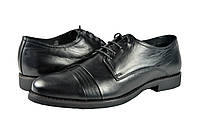 """Мужские туфли """"модельные"""" из натуральной кожи на шнурке mida 110087ч черные   весенние"""